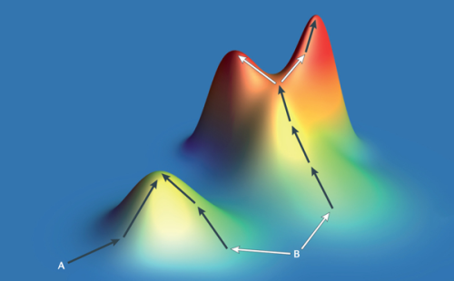 fitness-landscape-gradient-descent