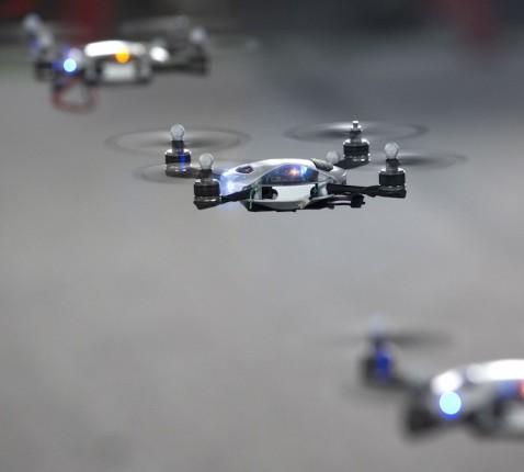 Drone swarm robotics