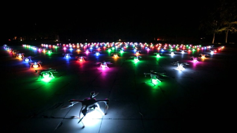 Intel drone swarm at China Olympics.